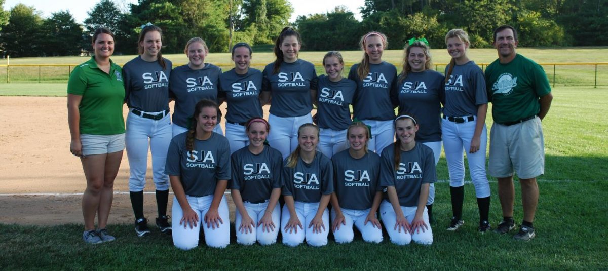 (Top row from left to right) Meredith Wilson, Anna Basile, Morgan Wilson, Bailey Weishaar, Sarah Basile, Amber Koph, Claire Regan, Kelsey Rowland, Katie Distalrath,and JP Cummings.  (Bottom row from right to left) Caroline Cutler, Mary Evans, Natalie Murray, Lauren Limp, and Sydney Hilker