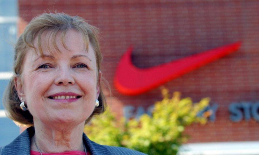 Carolyn+Davidson+created+Nike%E2%80%99s+iconic+%E2%80%98swoosh%E2%80%99+logo+in+1971+for+Nike.+