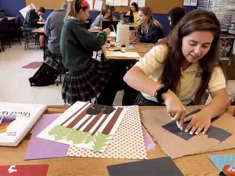 Art students create creative posters for St. Joseph's Academy's re-creation of Little Women
