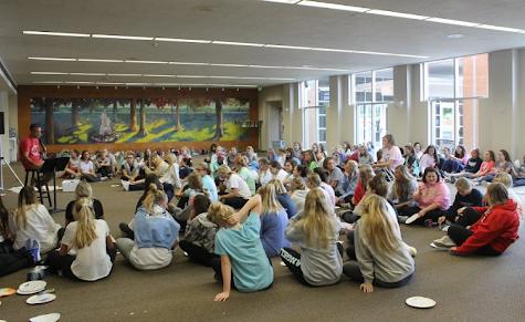 The junior class participates in annual retreat