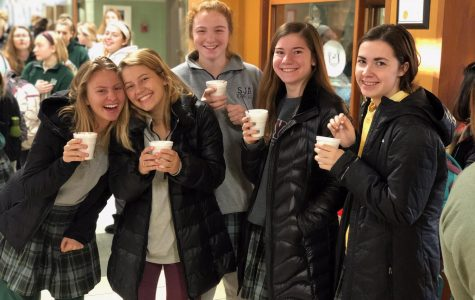 There may be sub-zero temperatures outside, but the Angels are finding  ways to stay warm with hot chocolate.