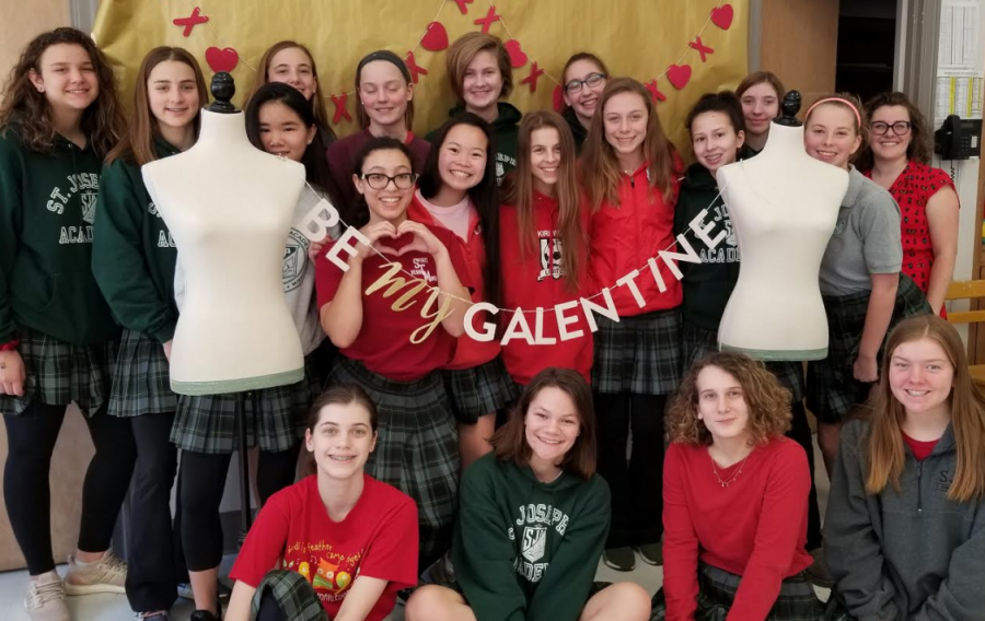 "Ms. Schaefer's Freshman Art Class celebrates ""Galentine's Day"""