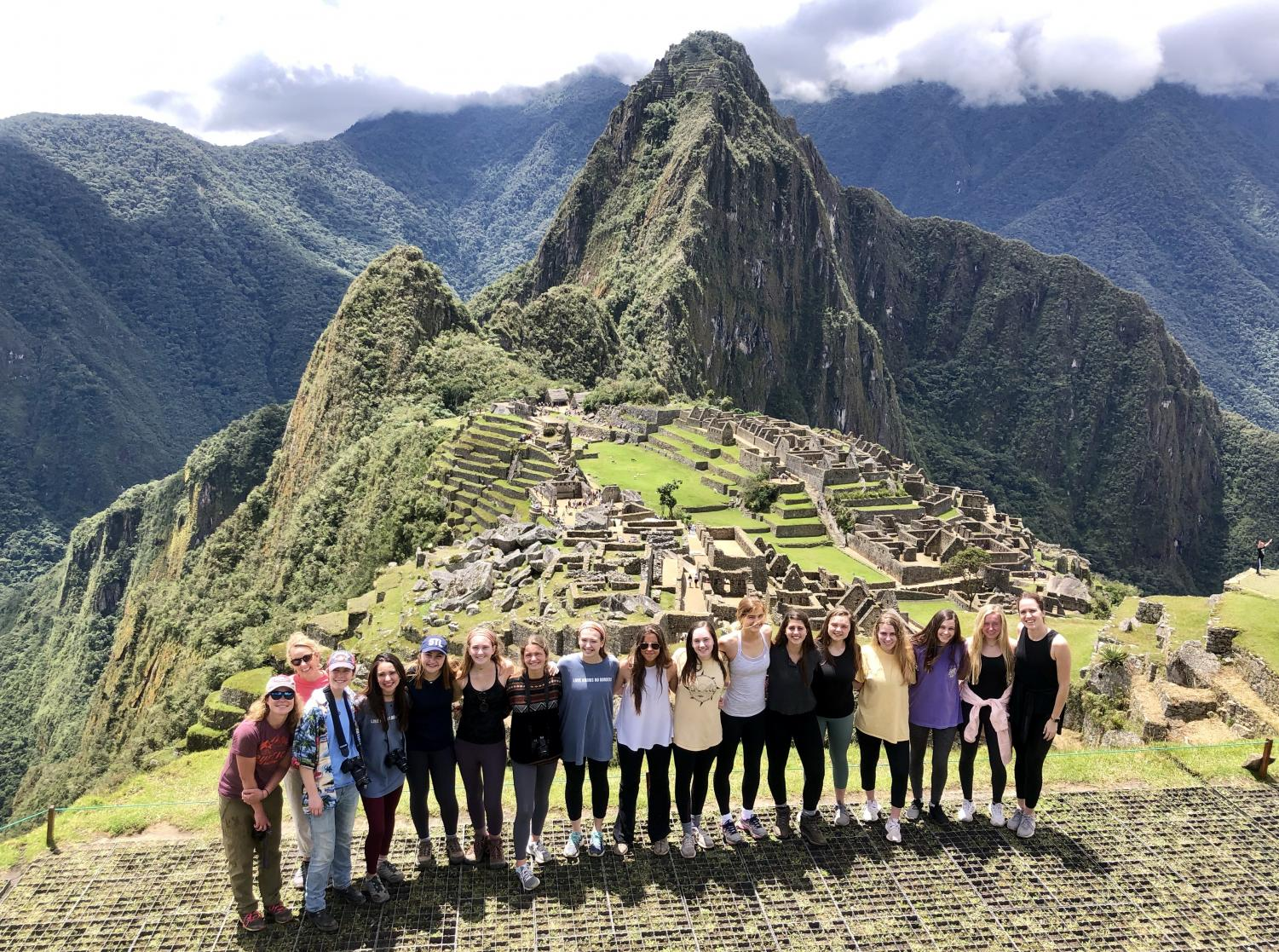 The angels after climbing up Machu Picchu!
