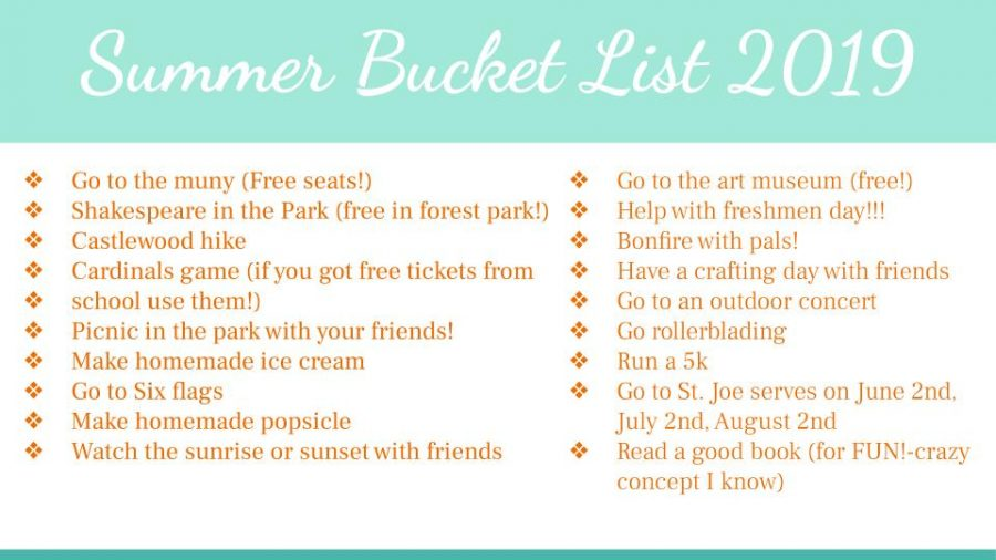 Summer Bucket List 2019