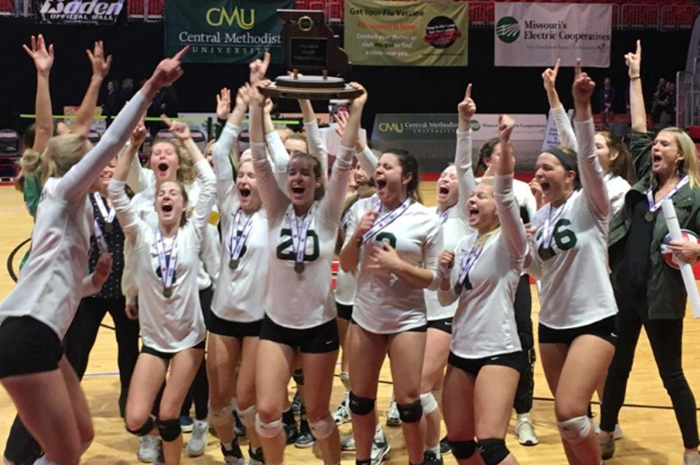 2017  Varsity volleyball team winning state!