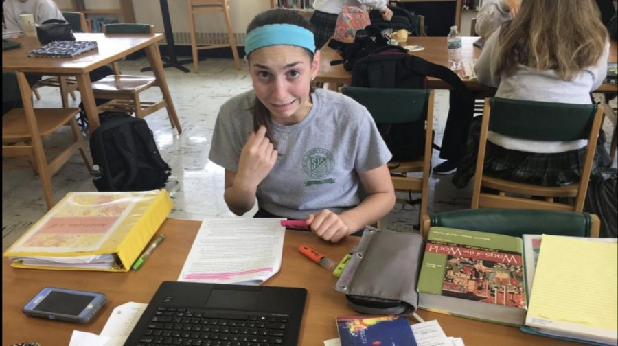 Senior Natalie Mispagel studying in order to conquer the new school year.