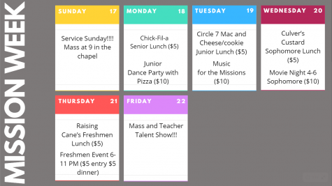 Mission Week 2019 Schedule