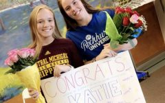 Seniors Katie Maxim and Catey Roux signed their National Letters of Intent.