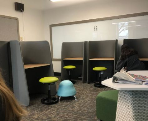 The quiet space in the student success center.
