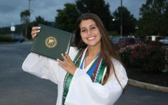 St. Joe Senior Mallory Kimes enjoys her modified graduation!