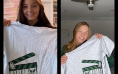 SJA students with their auction shirts.