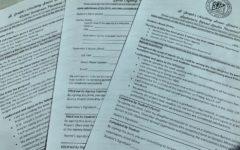 Senior service permission forms.