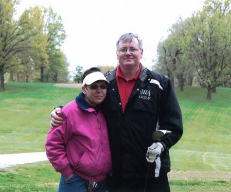 Mr. Gundy and his wife Kay participate in an Incarnate Word Academy golf tournament in about 2016.